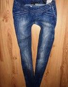 Spodnie legginsy pas zip ciekawy stan rurki