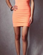 sukienka bandażowa neonowa Tally Weijl