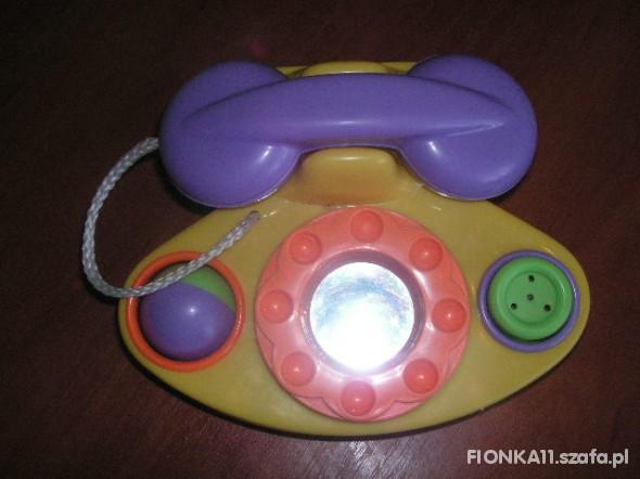 Zabawki TELEFON Z GRZECHOTKĄ I PISZCZKIEM