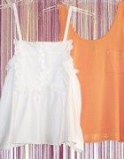 biały i pomarańczowy top HM