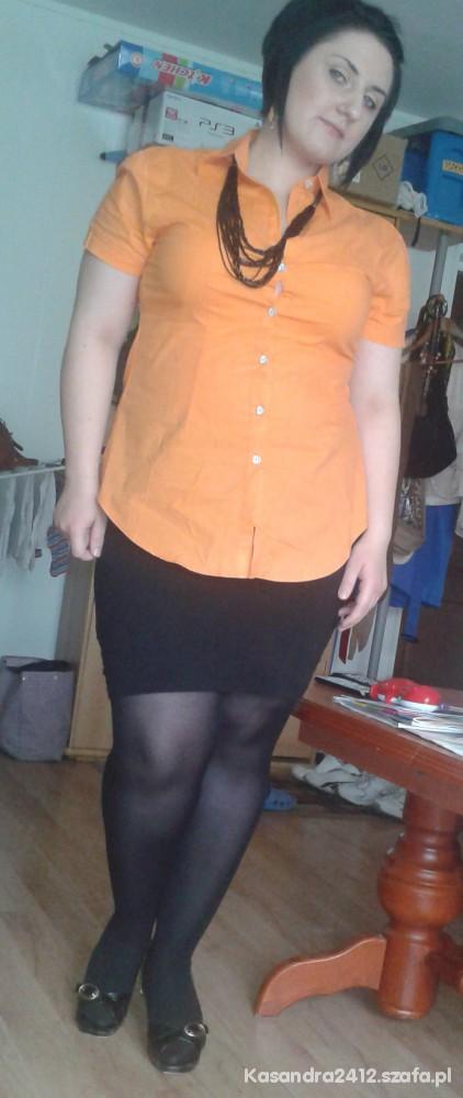 neonowa pomarańcz i czarny...