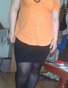 neonowa pomarańcz i czarny