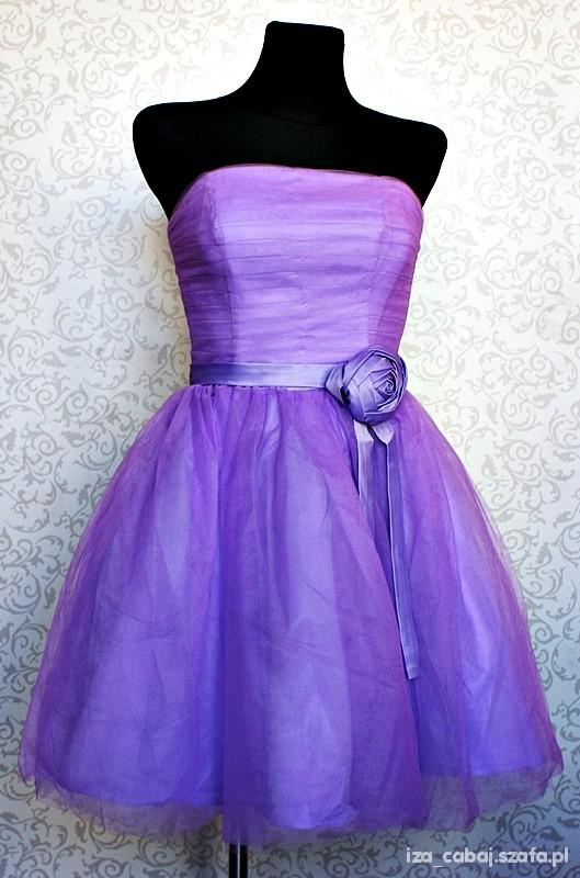 Suknie i sukienki fioletowa sukienka