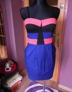 Kobaltowa sukienka kolory M