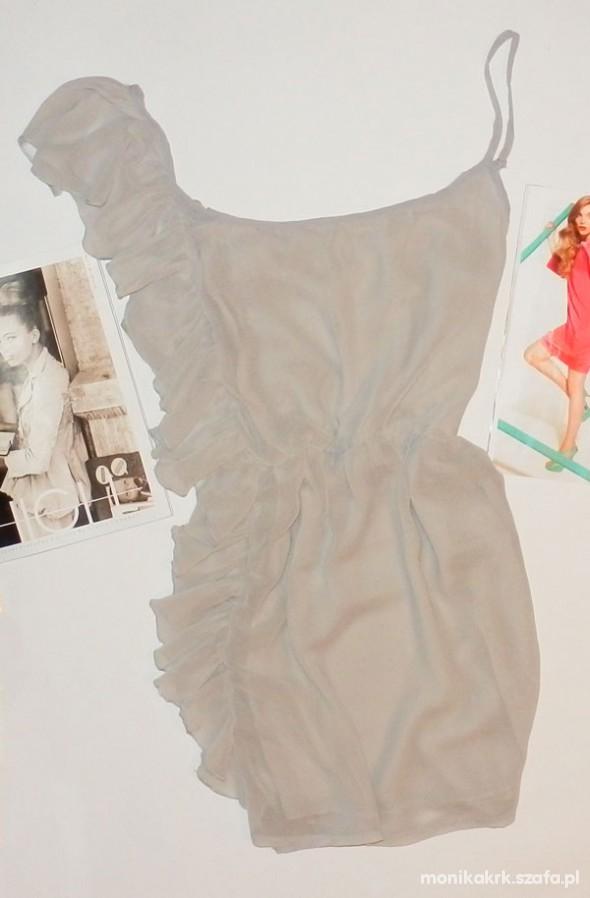 Suknie i sukienki sukienka z falbanką