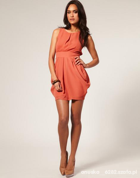 Suknie i sukienki Sukienka koralowa tulipan