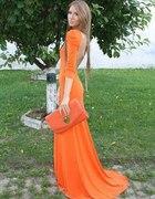 Prześliczna pomarańczowa sukienka