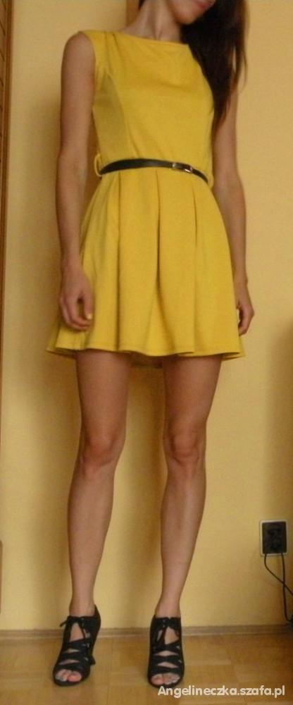Mój styl żółta sukienka