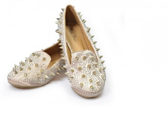 Studed Loafers gold