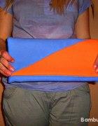 torebka kopertówka pomarańczowa chabrowa
