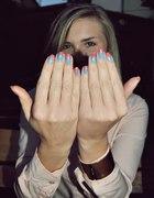 Ombre nails w trzech kolorach