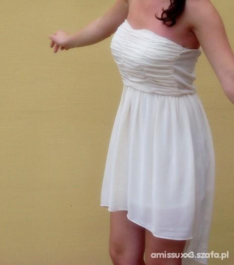 Imprezowe asymetryczna sukienka