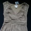 Sukienka beżowa cekiny 34 36