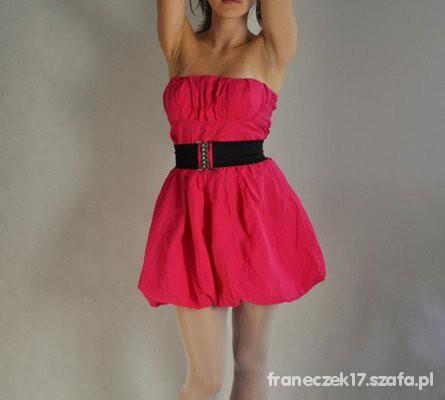 b969a1091c Różowa sukienka bombka w Suknie i sukienki - Szafa.pl