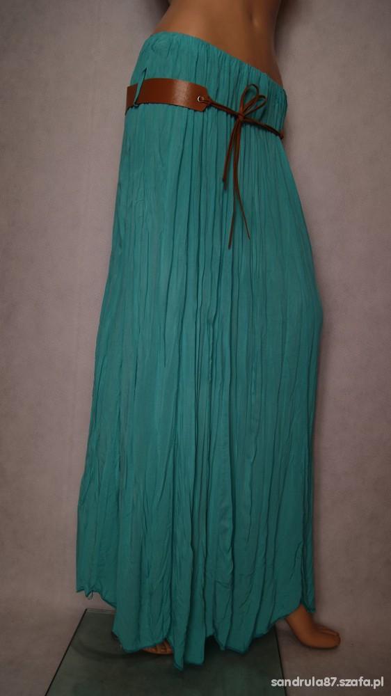 Spódnica maxi w kolorze morskim