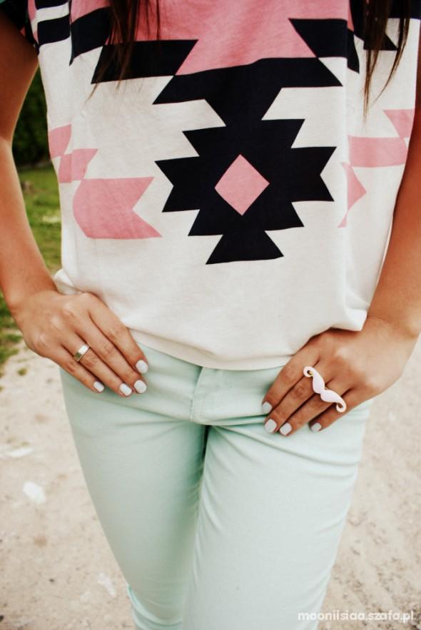 Codzienne minty trousers&aztec print
