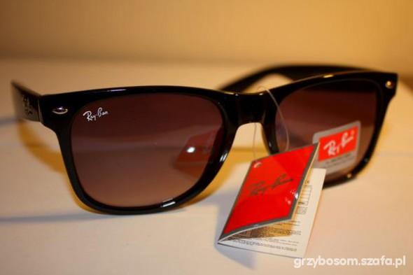 Okulary Ray Ban klasyczne czarne przeciwsłoneczne OKAZJA