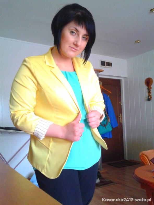 Do pracy Żółty i mięta
