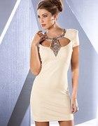 nowa sukienka zdobiona XS S M