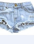 Jeansowe błękitne spodenki