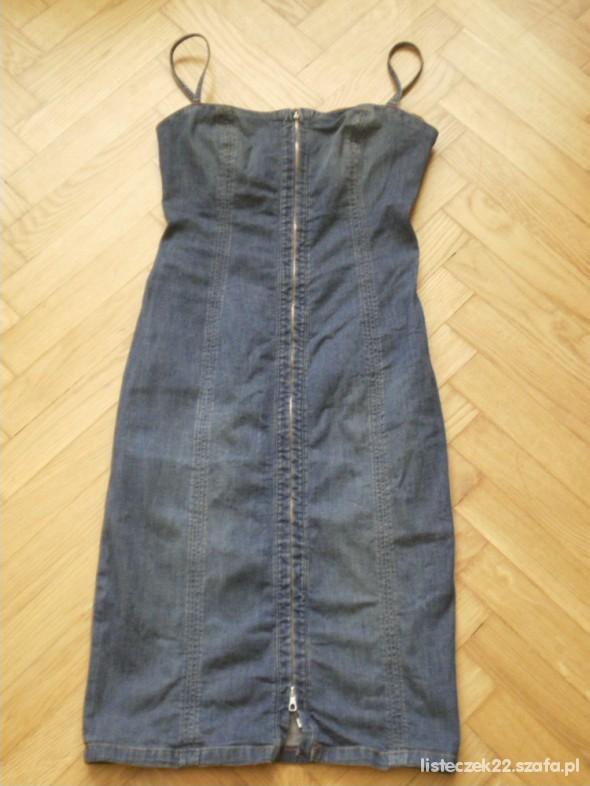 Suknie i sukienki jeansowa sukienka zip