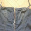 jeansowa sukienka zip