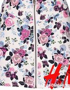 Biała spódnica floral kwiaty ZIP zamek H&M NOWA