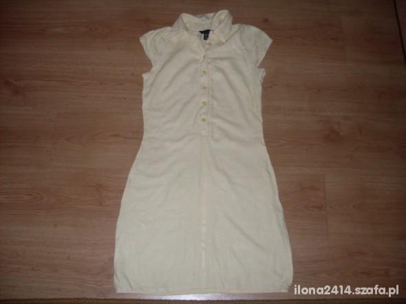 Suknie i sukienki Żółta sukienka H i M