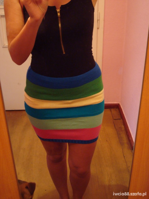 Spódnice kolorowa paski