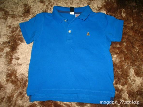 Koszulki, podkoszulki amarantowa koszulka polo Baby GAP 92cm 2l i miś