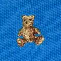amarantowa koszulka polo Baby GAP 92cm 2l i miś