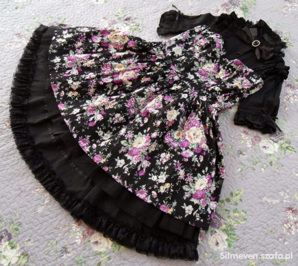 Suknie i sukienki Midnight Flowers JSK