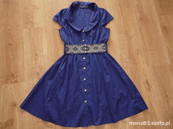 Suknie i sukienki Piękna sukienka z paskiem ATMOSPHERE okazja z UK