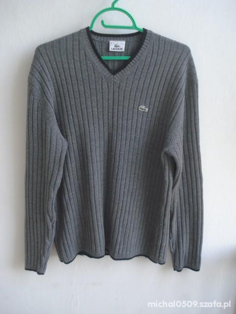 Sweter Lacoste 100 procent oryginał ciemno szary...