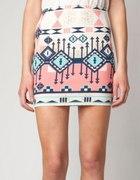 Spódnica bandażowa azteckie wzory Bershka...