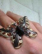 Złoty pierścionek DIY motylek