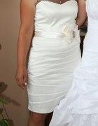 Kremowa sukienka weselna