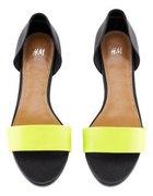Sandały TREND H&M limonka neon 37