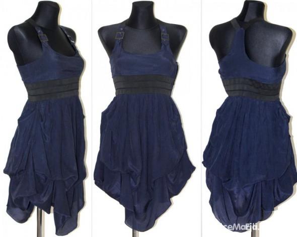 Suknie i sukienki Granatowa tunika sukienka ATMOSPHERE