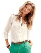 Koszula mgielka H&M ze zlotymi guzikami