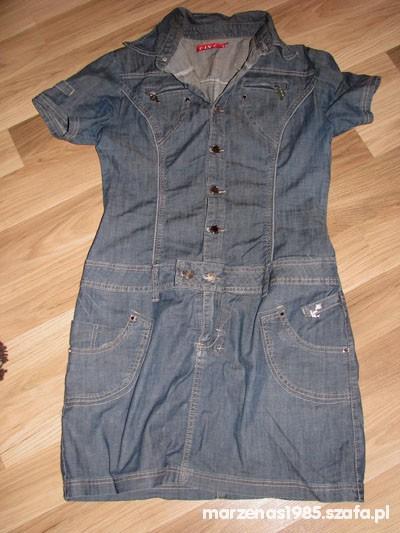 Suknie i sukienki Jeansowa szmijzerka sukienka
