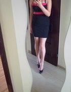Czarno różowo