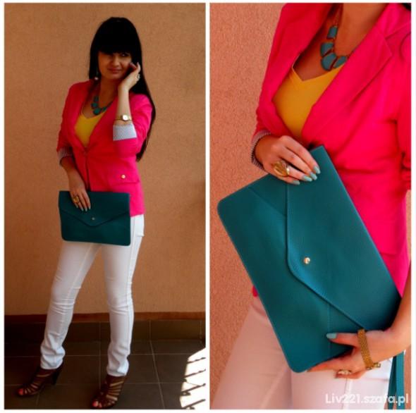 Mój styl biało & różowo & turkusowo