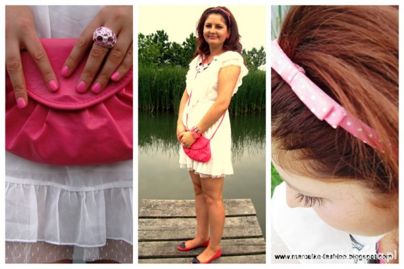 Mój styl pink and white my look