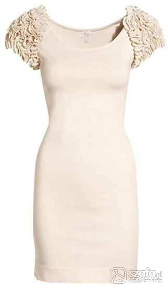 sukienka nude garden H&M