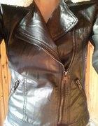 kurtka ramoneska z kozuszkiem
