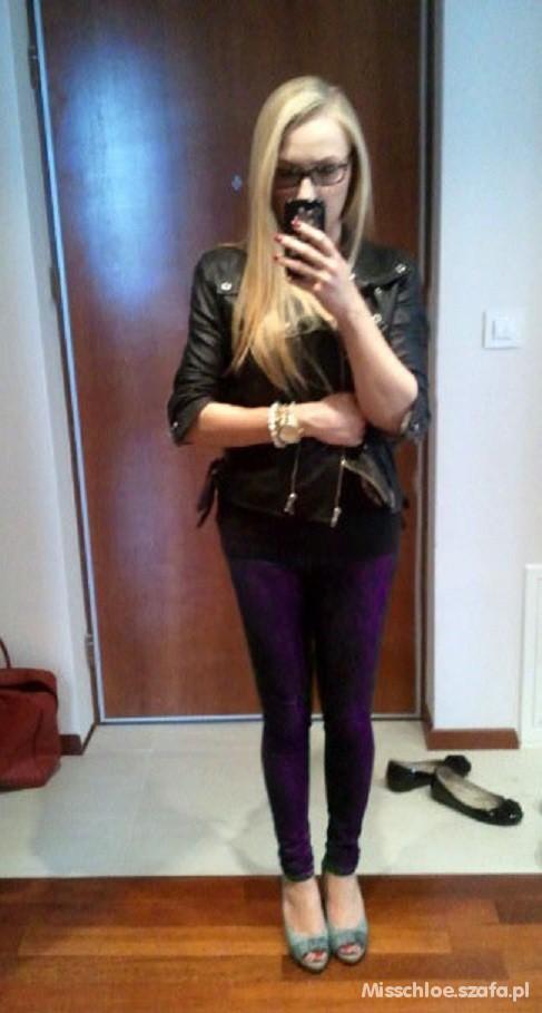 Mój styl Violet leggins
