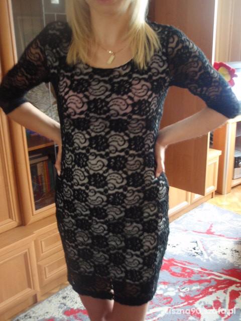 Eleganckie sukienka koronka
