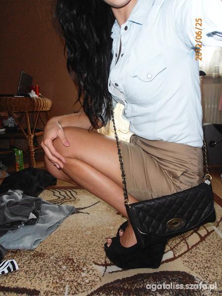 Mój styl karmelowo jeansowo