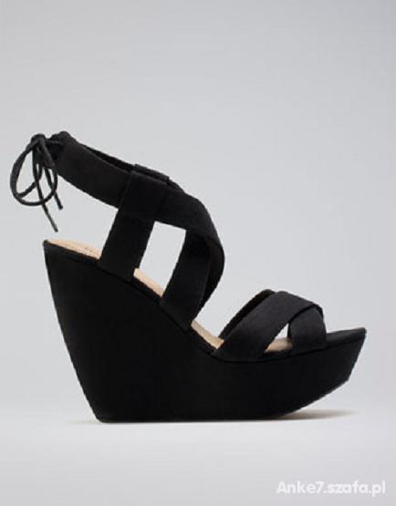 szukam czarne koturny sandalki